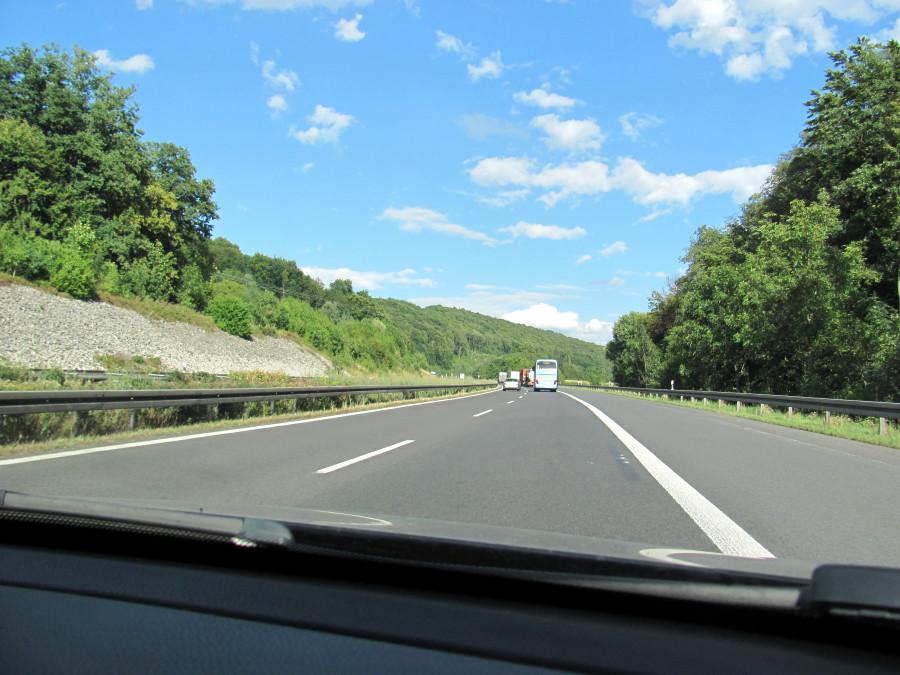 Autobahn bei Bamberg