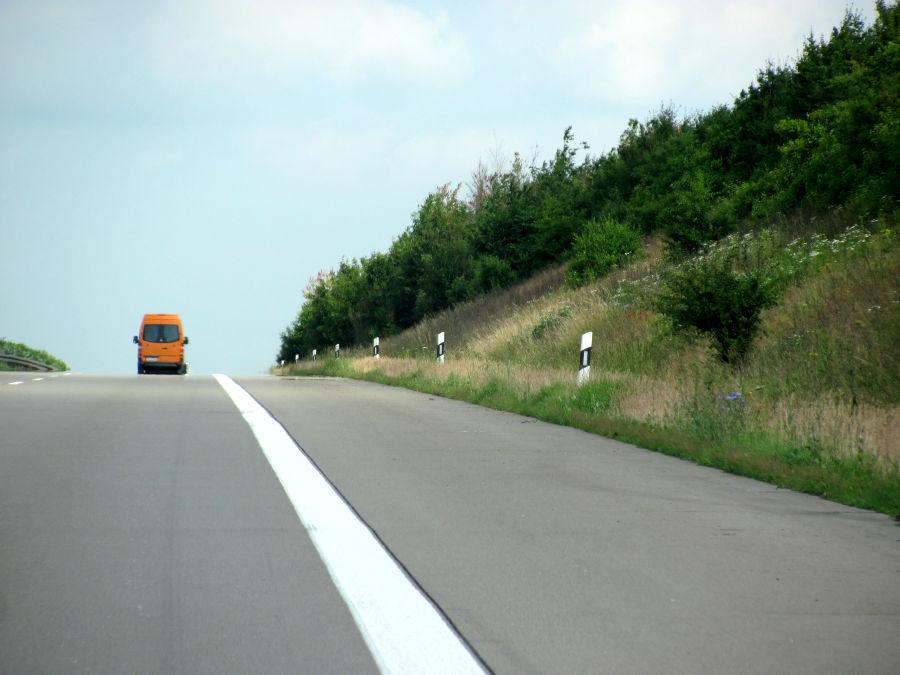 Autobahn rechte Spur