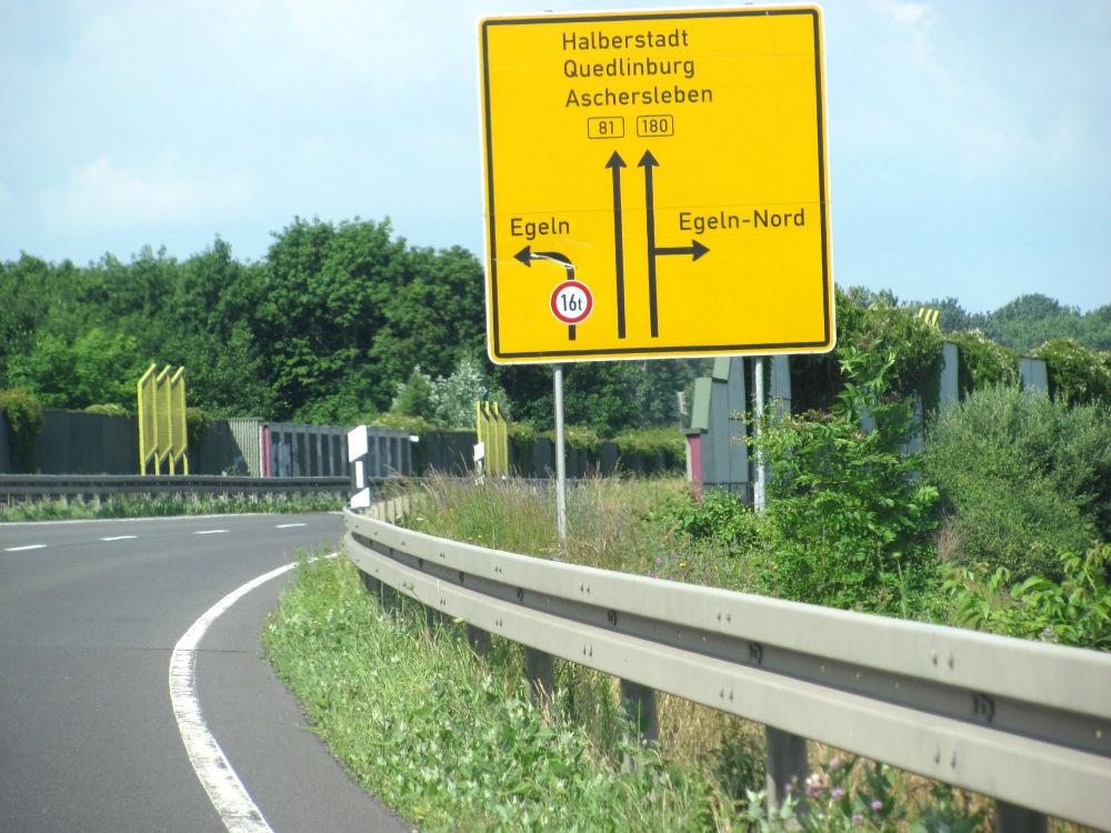 B81 Ausfahrt Egeln Nord