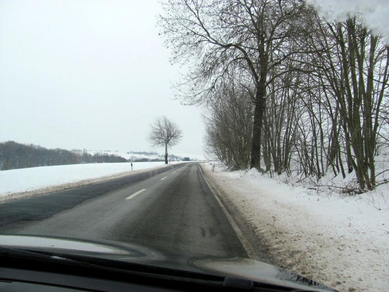 Winter Landstraße